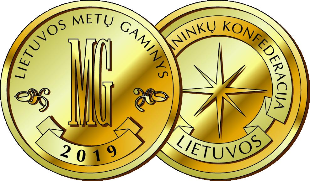 2019 m. Lietuvos metų gaminys<br />Aukso medalis