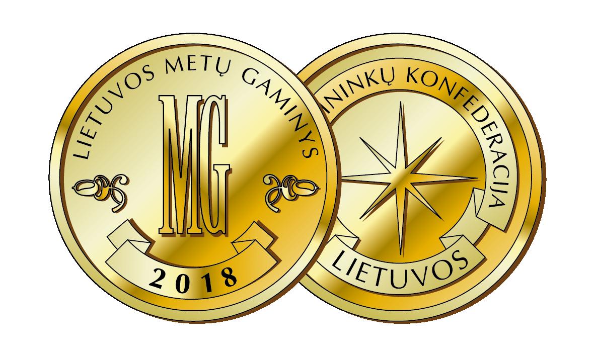 2018 m. Lietuvos metų gaminys<br />Aukso medalis